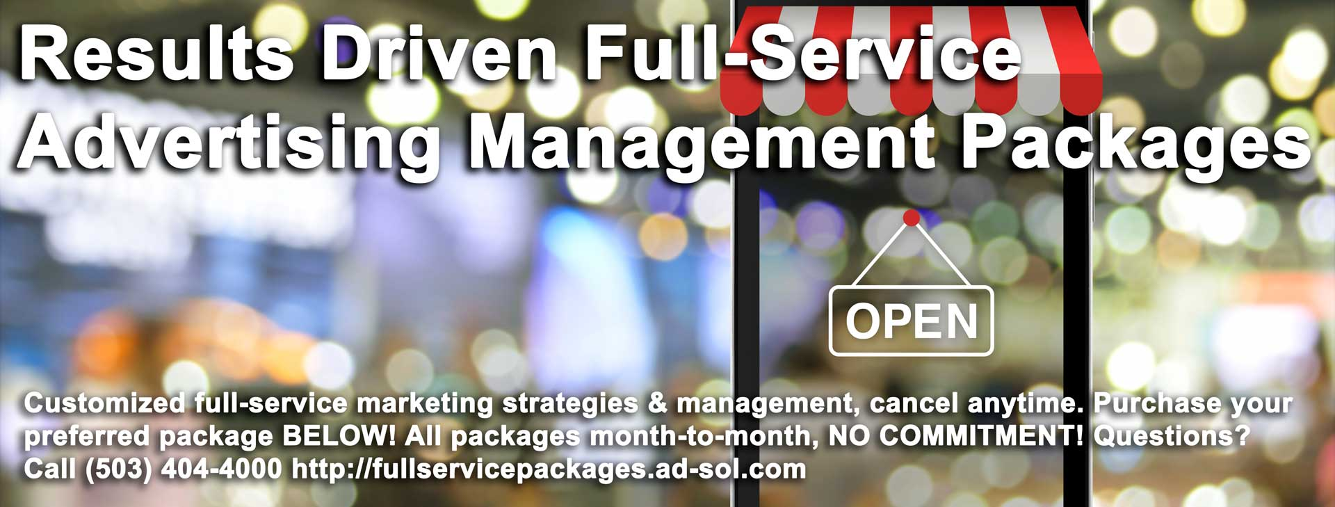 Results Driven Full-Service Advertising Management Packages